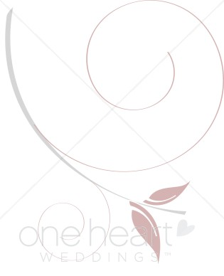 Large Swirl Accent Clipart.