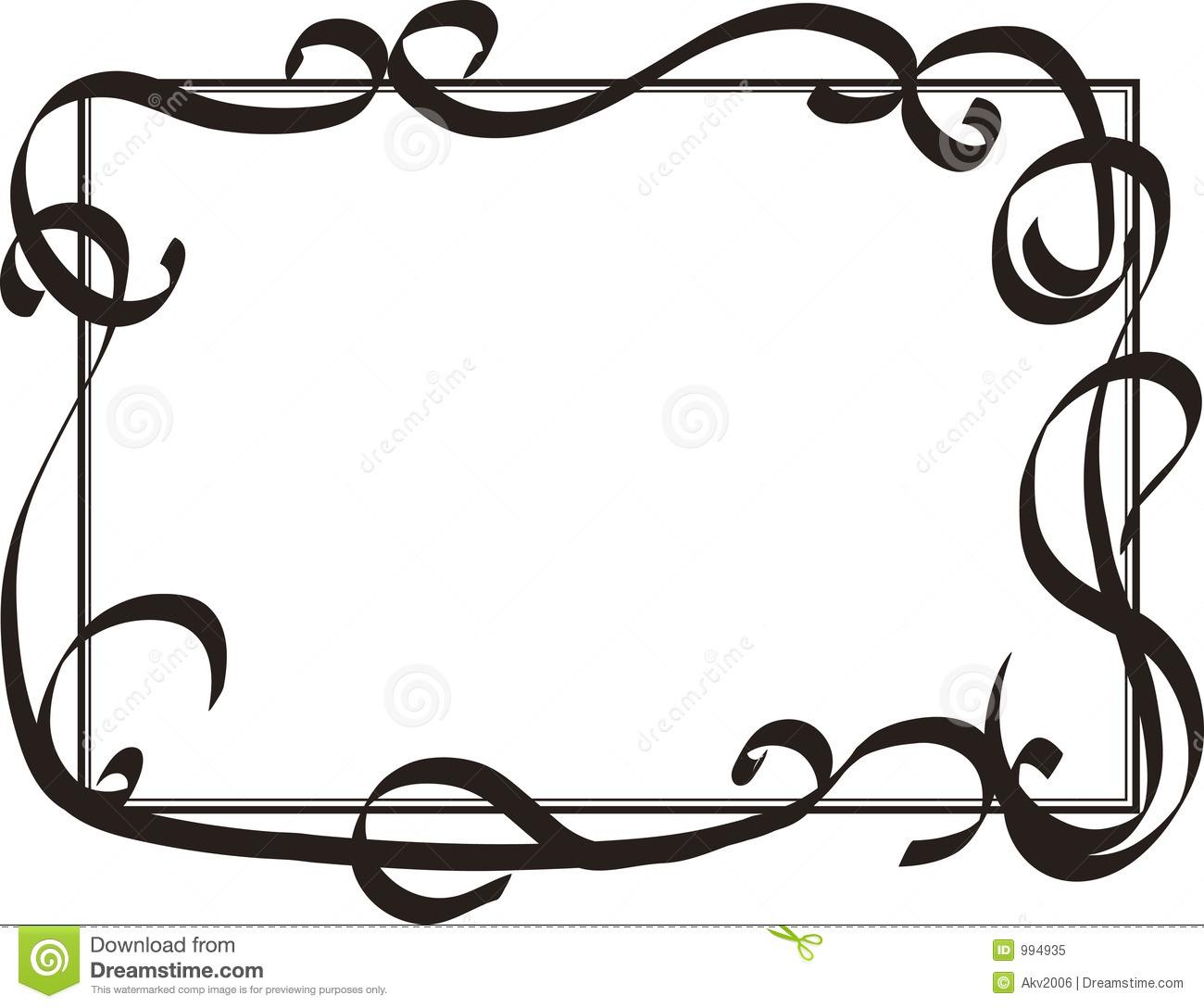 26+ Swirl Border Clip Art.