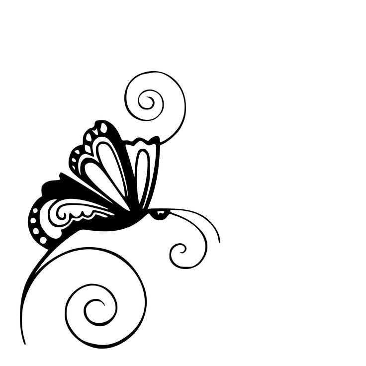 swirl butterfly clipart