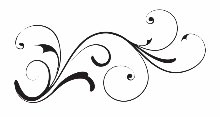 White Decorative Swirl Clipart With No Background Uploaded.