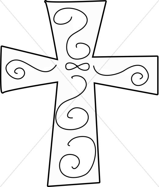 Black and White Swirl Cross.