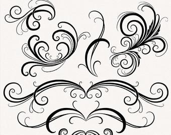 Swirl Design Clip Art Free Download.