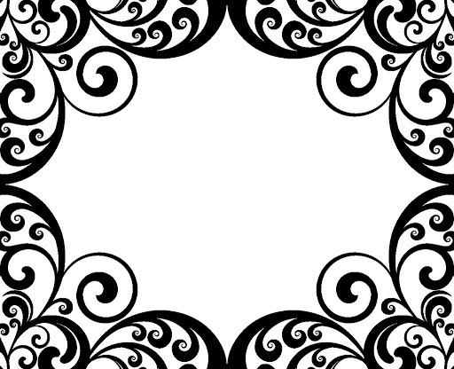 Swirl Border Clip Art.