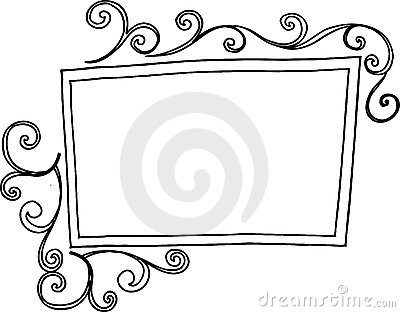 Rectangular Swirl Frame Stock Photography.