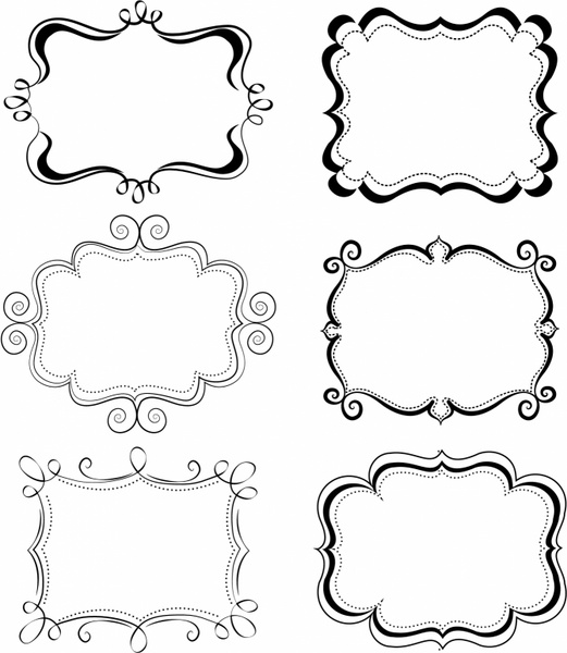 swirl frame clipart - Clipground