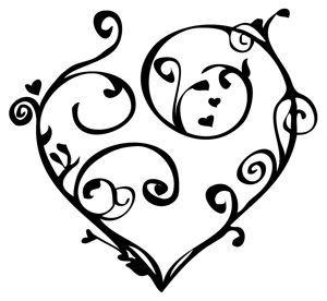 Swirl heart clipart 6 » Clipart Portal.