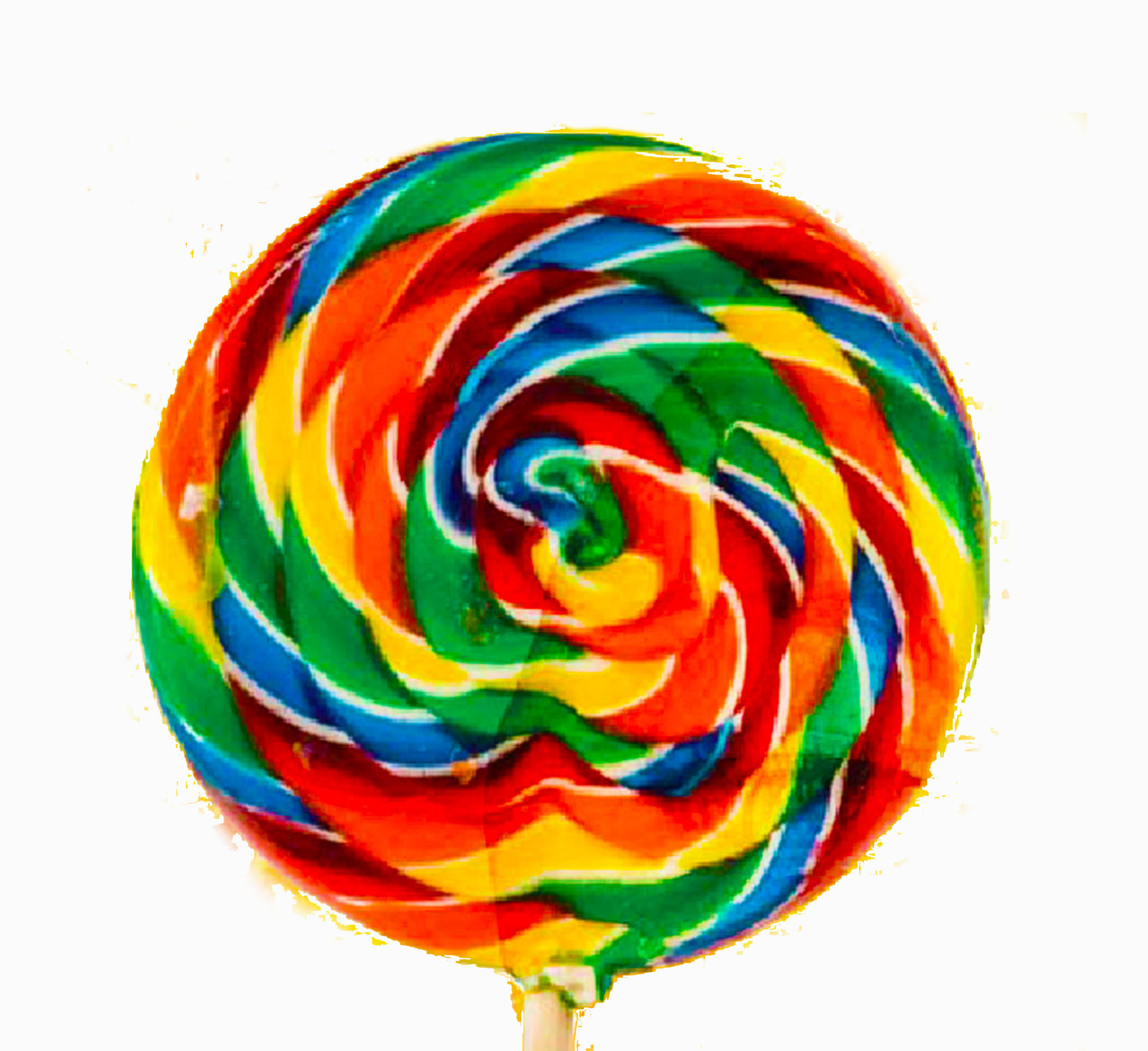 Rainbow Swirl Lollipop Clip Art N2 free image.