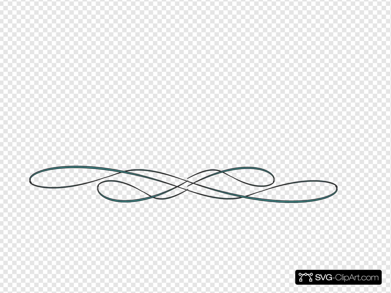 Beautiful Swirls Underline Clip art, Icon and SVG.