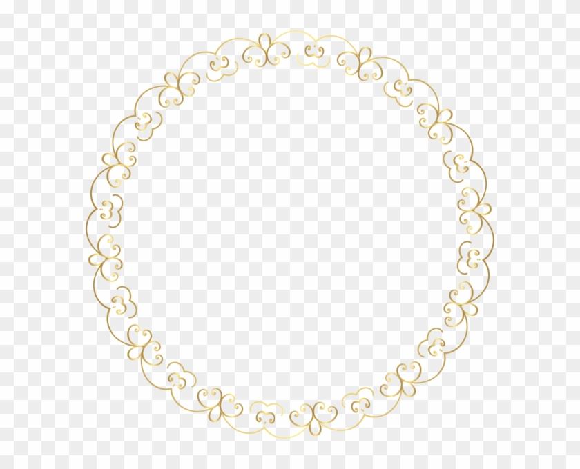 Round Gold Border Frame Png Clip Art Image.