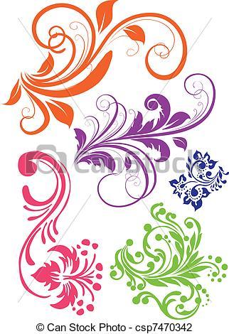 Vector Illustration of Swirl pattern vector csp7470342.