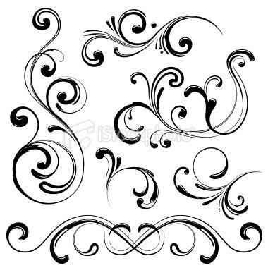 Swirl Tattoo Designs.
