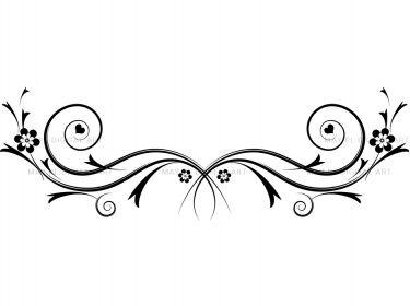 Flourishes decorations black curly flourishes swirls clipart.