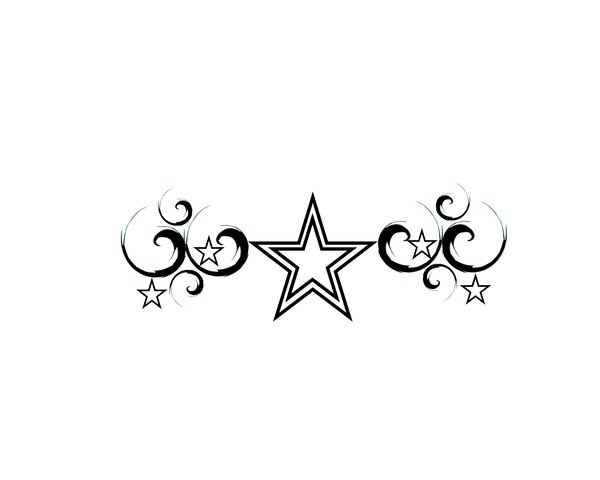 Free Stars And Swirls Tattoo Designs, Download Free Clip Art.