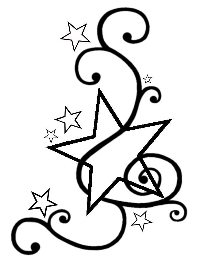 Swirls and stars clipart » Clipart Portal.
