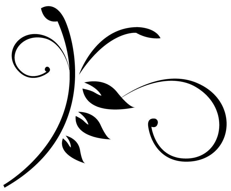 Simple Swirls Clipart.