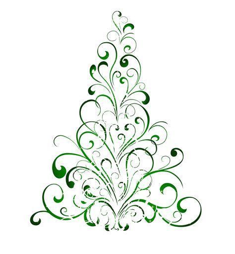 free swirly christmas tree svg file.