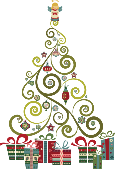 A Swirly, Curly Christmas Tree.