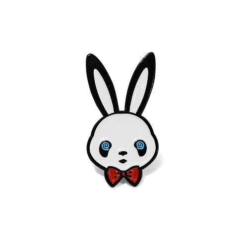 Swirly Eyes Pin — The Panda Rabbit.