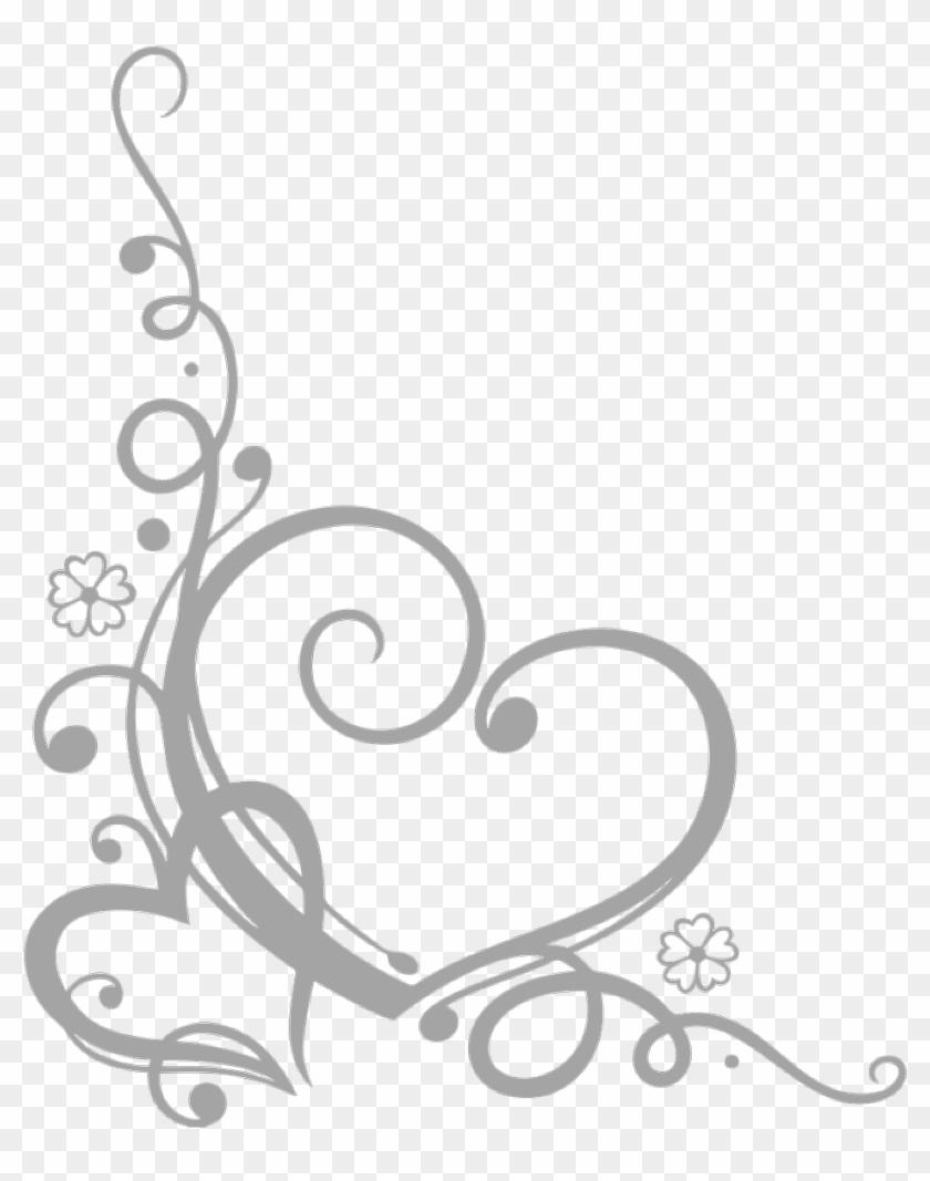 swirls #swirl #swirly #hearts #heart #corners #corner, HD.
