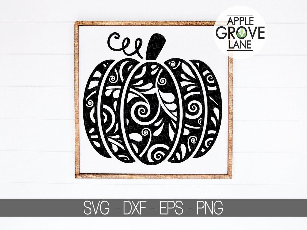 Swirly Pumpkin Svg.