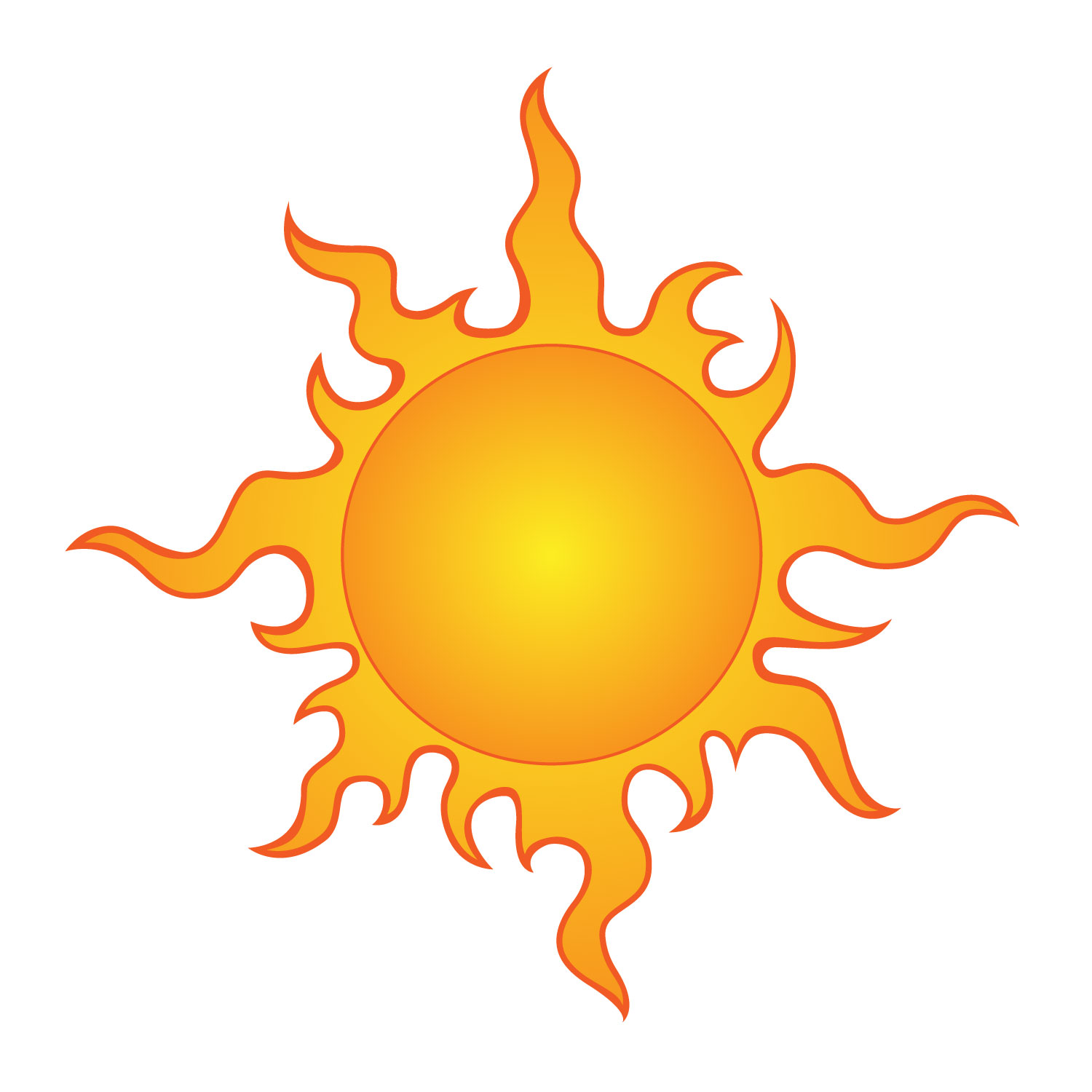 Collection of Sun rays clipart.