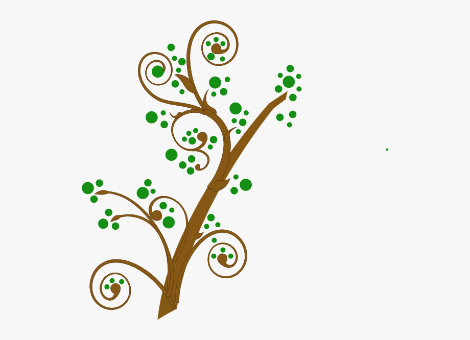Brown And Green Tree Branch Svg Clip Arts 600 X 586.
