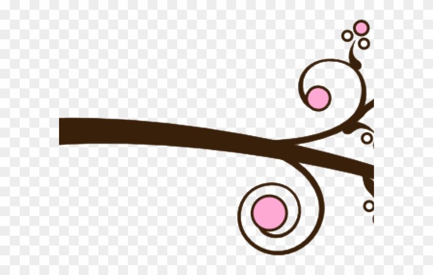 Branch Clipart Swirly Tree.
