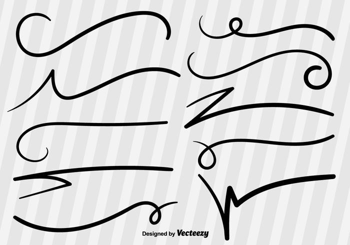 Swish Sketch Vector Lines.