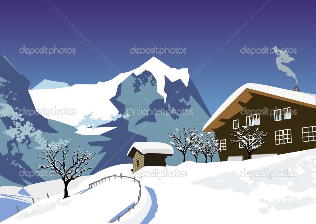 Snow swiss Alps — Stock Vector © upstudio #46384851.