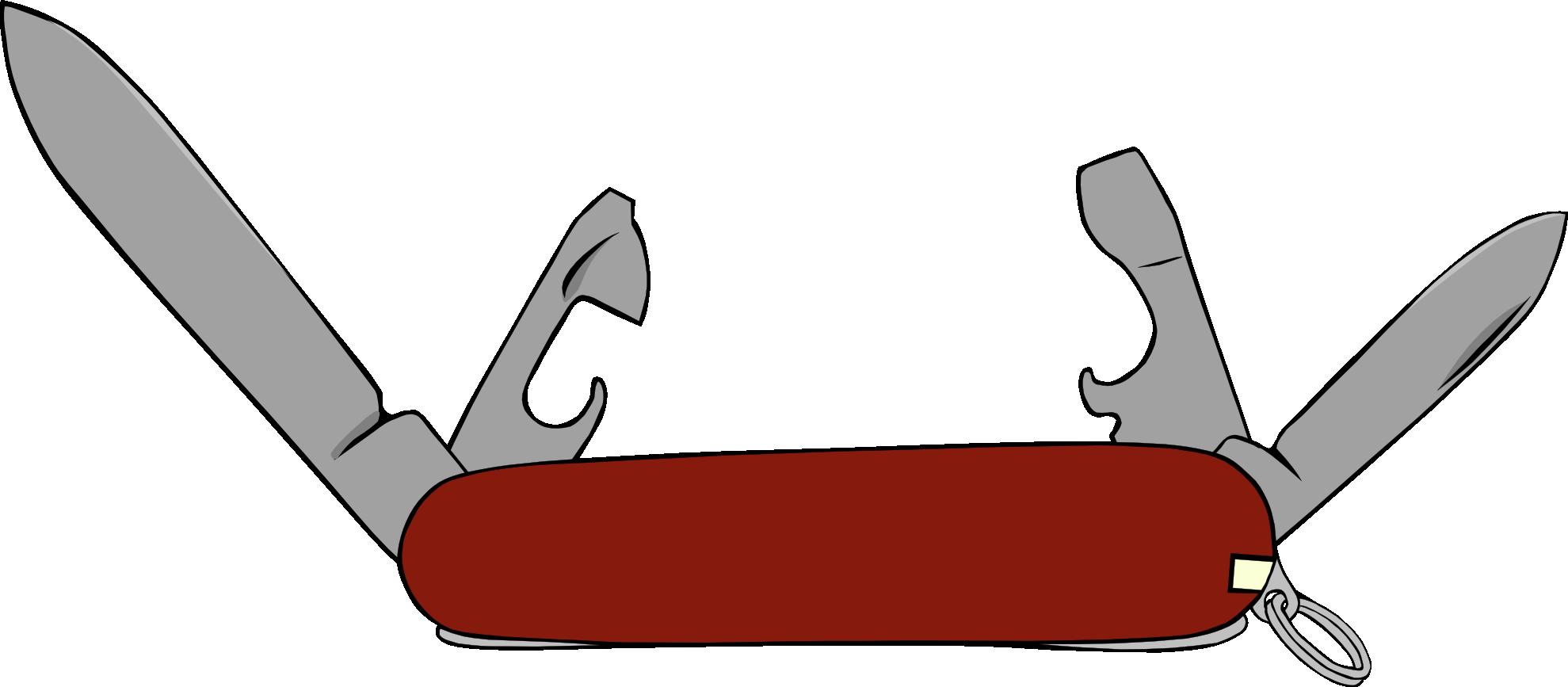 Swiss knife clipart.