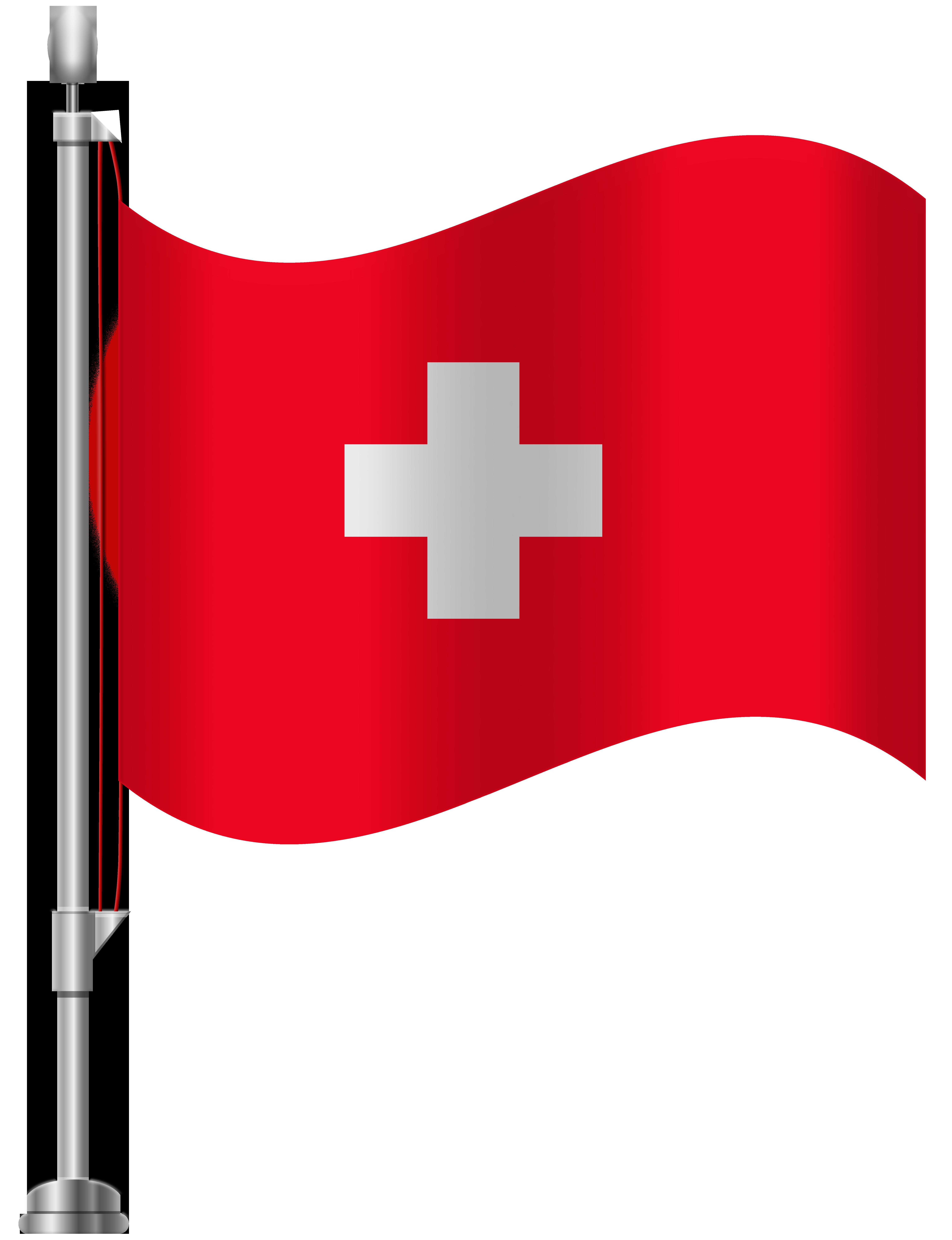 Switzerland Flag PNG Clip Art.