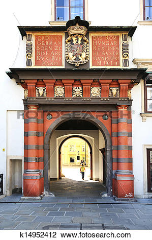 Stock Photo of Swiss Gate Amalienburg Vienna k14952412.