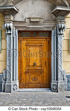 Stock Images of Swiss Door.
