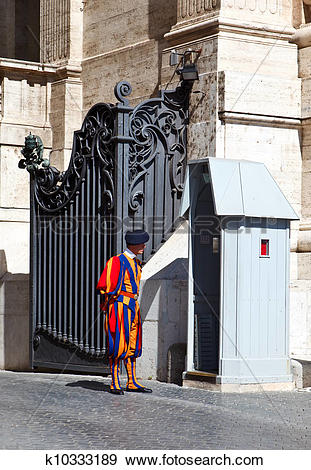 Stock Photograph of Swiss guard k10333189.