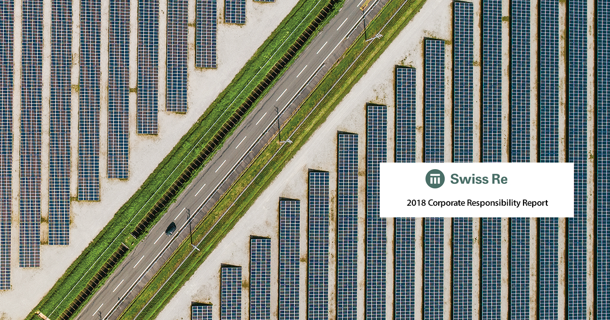 Swiss Re 2018 Corporate Responsibility Report.