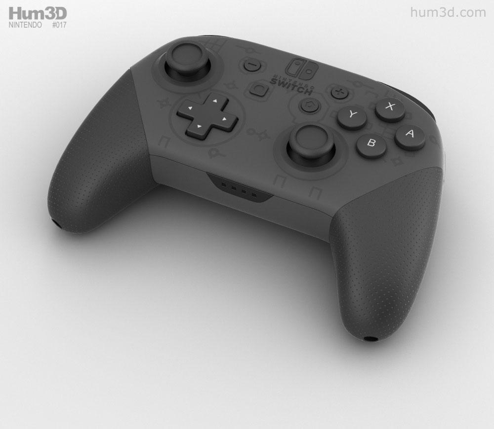 Nintendo Switch Pro Controller 3D model.
