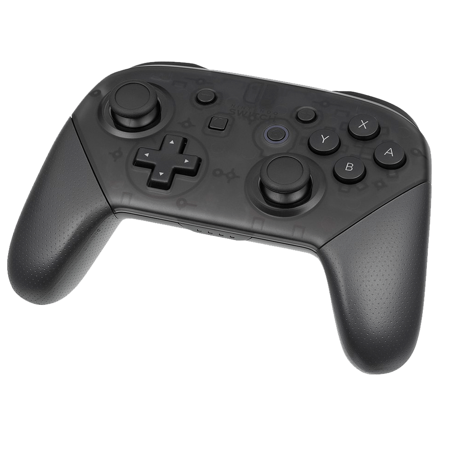 Nintendo Switch Pro Controller PNG Image.