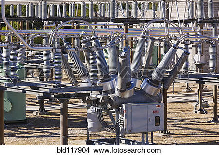 Stock Photo of High Tension Switching Station bld117904.