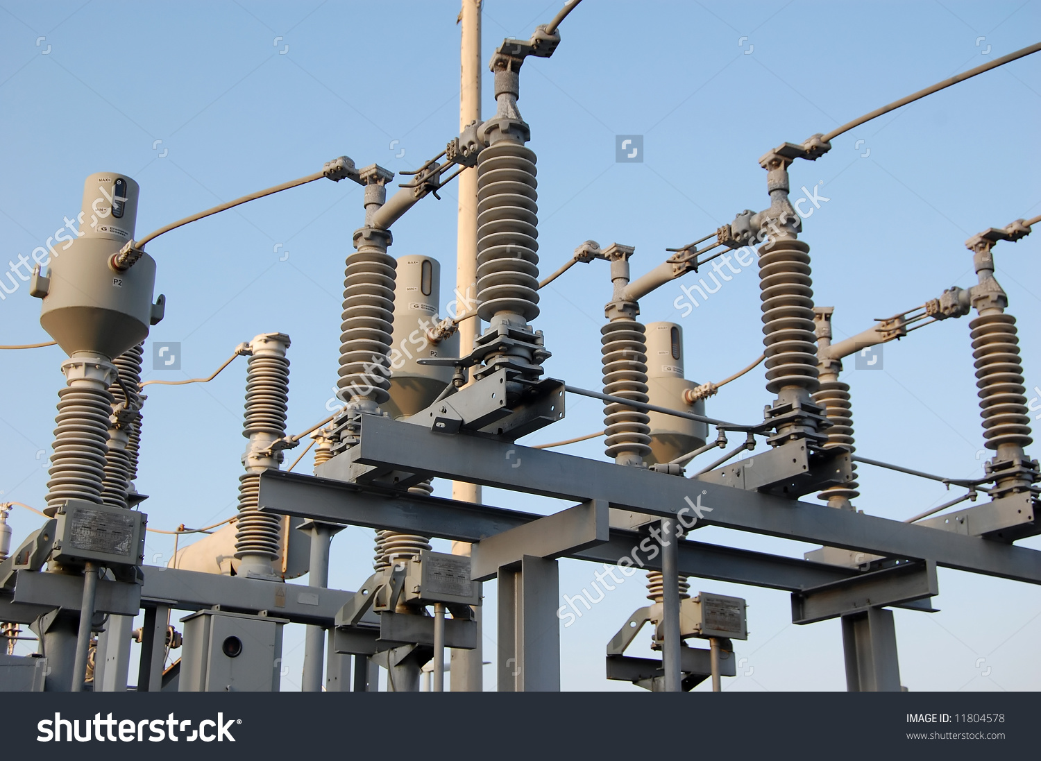 Power Plant Switchyard Stock Photo 11804578 : Shutterstock.