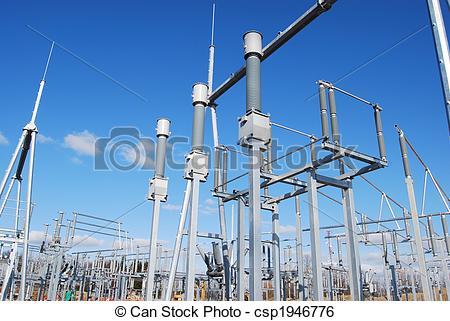Stock Image of switchyard.