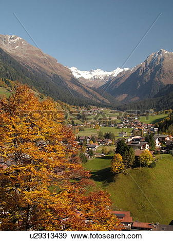 Stock Photograph of Switzerland, Europe, Kloster, Graubunden.