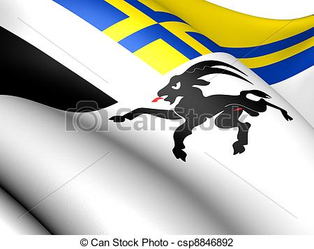 Clip Art of Flag of Graubunden, Switzerland. Close Up. csp8846892.