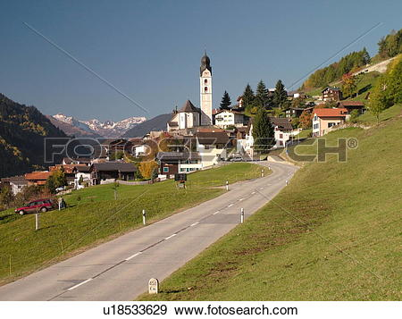 Stock Photograph of Switzerland, Europe, Flims, Graubunden.