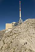 """Stock Photography of """"Antenna on Saentis Mountain, Gipfel, Santis."""
