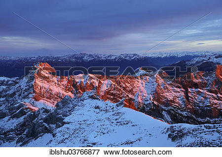 """Picture of """"Evening mood on Saentis Mountain, Canton of Appenzell."""