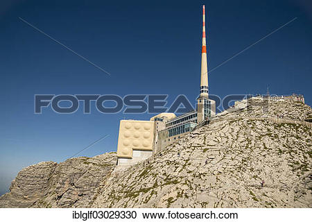 """Stock Photography of """"Restaurant and observatory with an antenna."""