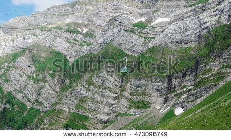 Alps Cable Car Swiss Stock Photos, Royalty.