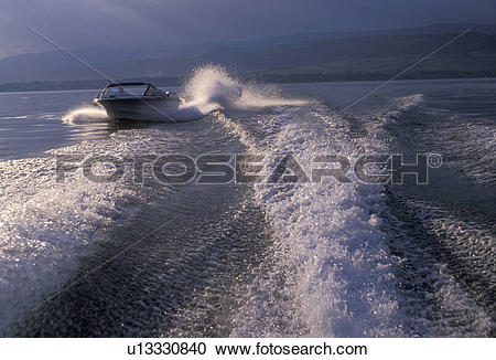 Stock Photography of wave, water, boat wave, lake, Switzerland.