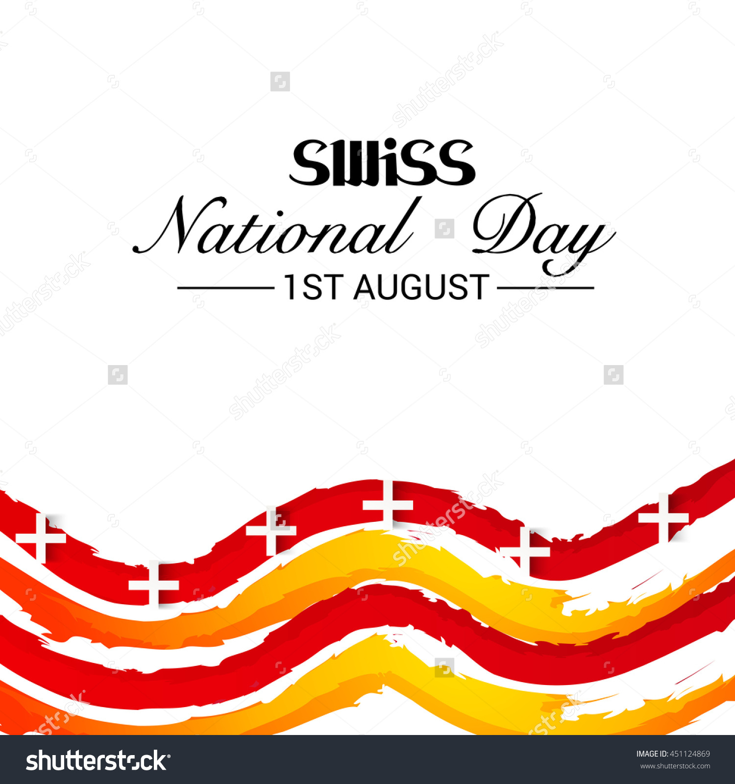 Vector Illustration Wave Background Swiss National Stock Vector.