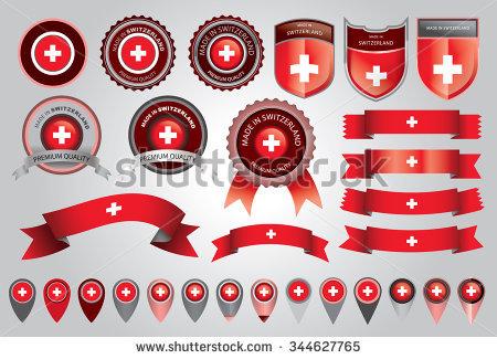 Abstract Swiss Flag Switzerland Background Vector Stock Vector.